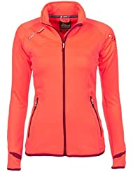 Peak Mountain - chaqueta polar shell mujer ACLIMATE-coral-T4