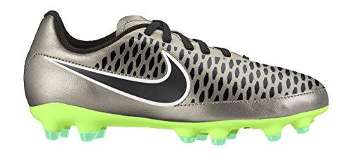 Nike Jr Magista Onda Fg, Scarpe da Calcio Unisex Bambini, UK Plateado / Negro / Verde / Blanco (Mtlc Pewter / Blk-Ghst Grn-White)
