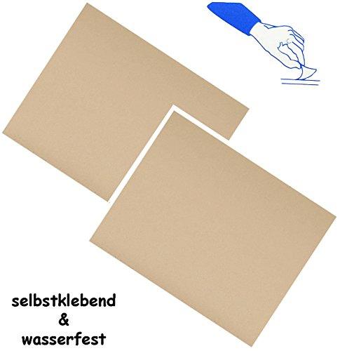 2-stuck-selbstklebende-reparatur-aufkleber-nylon-beige-creme-hautfarben-wasserabweisend-wasserdicht-