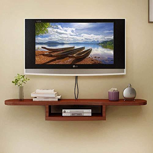 HONGYU Regal Set-Top Box Wandbehang TV Schrank Wand Trennwand Wanddekoration Rahmen - 5 Colors-120 * 50 * 20cm (Farbe : E) -