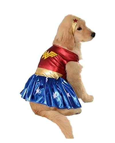 Horror-Shop Wonder Woman Hunde-Kostüm L