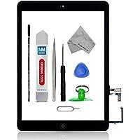 Assemblaggio digitizer schermo tattile display di vetro - Incl Pulsante home + flex + Supporto camera per IPAD AIR NERO