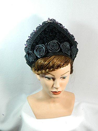 French Hood Coronet Schapel Haube Tudor Mittelalter Kokoshnik Gothic Mittelalter Krone Kopfschmuck Gebände (Boleyn Kostüm Kostüm Anne)