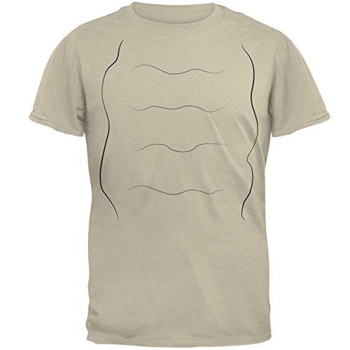 Schnecke-Kostüm-Herren-T-Shirt Sand LG (Schnecke Halloween-kostüm)