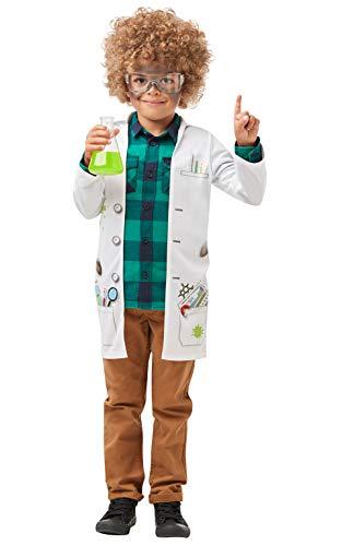 Rubie's 640785L S Offizielle Mad Scientific Jacke, Labor-Doktor-Uniform, Kinder Größe L 7-8 Jahre, Unisex, mehrfarbig