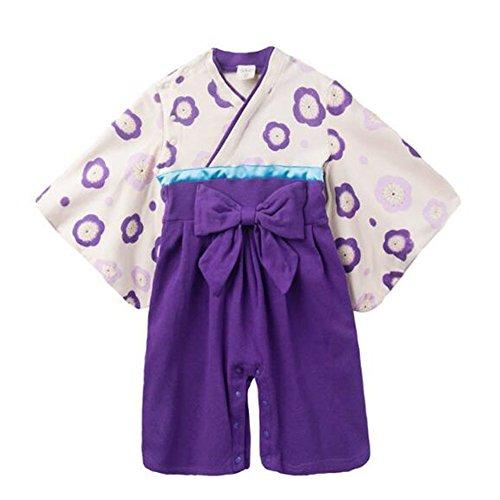 Deylaying Baby Mädchen Mode Stramplers Jumpsuits Hakama Style Kimono Suit Top Hosen Sets Säugling Kleinkind Lange Ärmel Winter Herbst Overalls Outfits 3-9 Monate