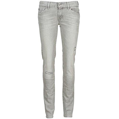 7 for all mankind Roxanne Destroyed Jeans Damen Grau - DE 32/34 (US 25) - Slim Fit Jeans -