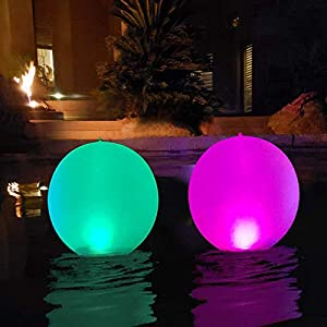 """14"""" LED Solarlichter, LED Solar Ball Licht Schwimmende Pool Lichter Wasserdichte Solar Glow Globe, Farbwechsel LED Nachtlicht Decor für Terrasse,Weg,Garten,Hochzeit,Strand,Hof,Rasen Patentiert(2Pcs)"""