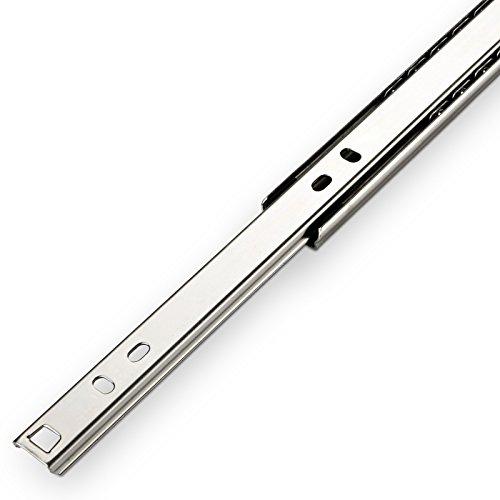 SO-TECH® Teilauszug Schubladenschiene Schubladenauszug H 27 / L 350 mm Teleskopschiene Rollenauszug