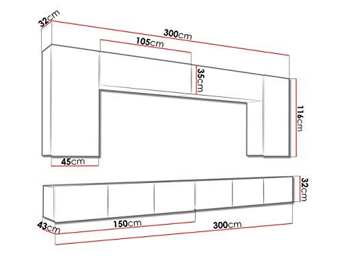 Wohnwand – Mirjan24 Moderne  Calabrini XIII – Bild 5*