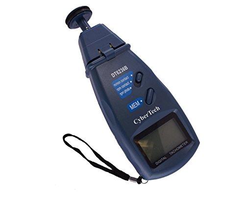 CyberTech 3 en 1 Tri-Mode de contacto y sin contacto del laser del tacómetro RPM de fotos digital tacómetro y velocidad lineal de superficie del metro de distancia Medida con cuatro ruedas 1