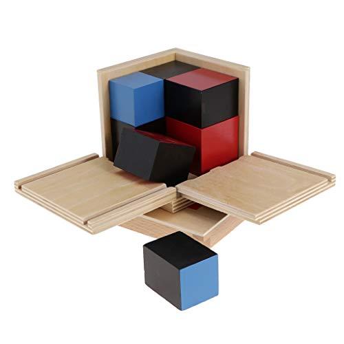 Blesiya Madera Montessori Material De Matemáticas Cubo Binomial Juguete Educativo Temprano