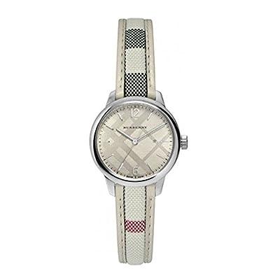 Burberry Women's 32mm Leather Band Steel Case Swiss Quartz Watch Bu10113