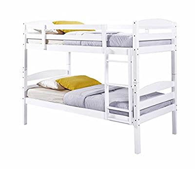 Happy Beds Chatsworth Bunk Bed Wooden White Finish Modern Mattresses Kids produced by Happy Beds - quick delivery from UK.