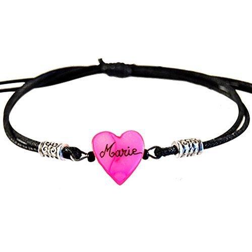 Yves Boucher Bracelet Enfant Personnalisé Prénom Rose Clair Extensible