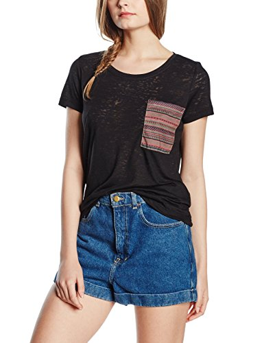 Only Onlnajo S/S Pocket Top Box Jrs, T-Shirt Femme Noir - Noir