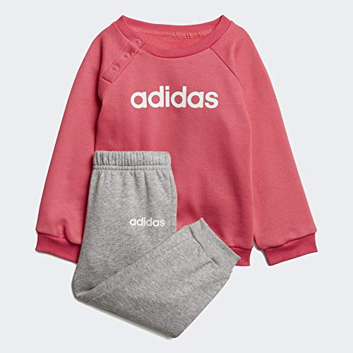 adidas Unisex Infant Linear Jogger Fleece, Suits L Real Pink S18/Medium Grey Heather/White