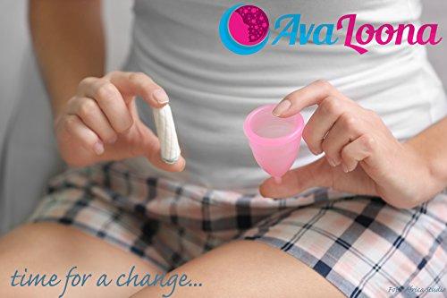 AvaLoona Menstruationstasse – weiß (klein) - 6