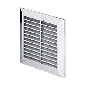 Chrome Air Vent Grille 170mm X 170mm With Fly Screen