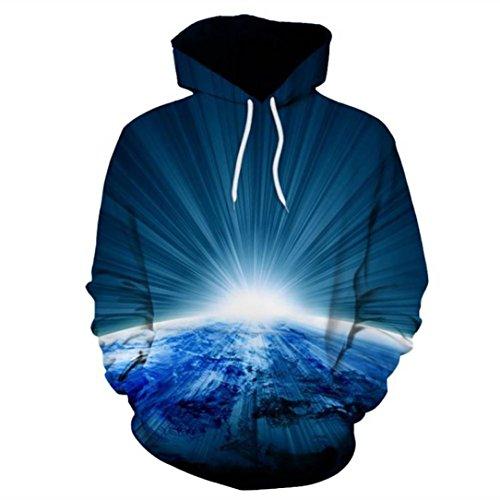 3D Tier Drucken Hoodie Sweatshirt Herren Damen, DoraMe Männer Frauen Cool Kapuzen Pullover Lange ärmel Kapuzenpulli Bluse Unisex Sportlich Hemd (Blau, Asien Größe M) (Leinen-mischung-jacke)