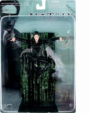 2000 N2 Toys The Matrix Action Figure - Trinity in Air by The Matrix
