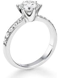 Solitaer Diamantring - Round mit Zertifikat 1.78 Karat, 18 Karat (750) Weißgold