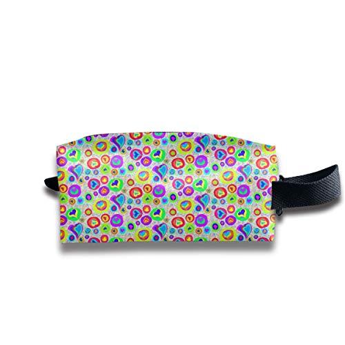 hatz sweeties auf regenbogen speckles_9111 tragbare reise make-up kosmetiktaschen veranstalter multifunktions tasche taschen für unisex ()