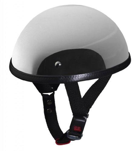 NERVE hld-4d' epoca nh201Casco Moto Ciclomotore Chopper Scodella, Cromo/Argento specchiato, taglia XL