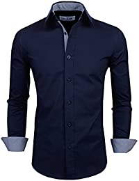 Tom's Ware Chemises habillees-Contraste Slim manches longues-Hommes