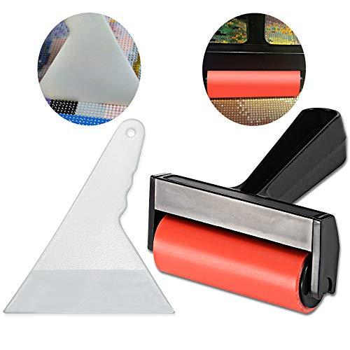 Diamant Malerrolle - Diamant Malerei Zubehör für komplette Bohrmaschine und Teilbohrer 5D Diamantmalerei, mit einem Fix-Werkzeug. - Paint Roller Kit
