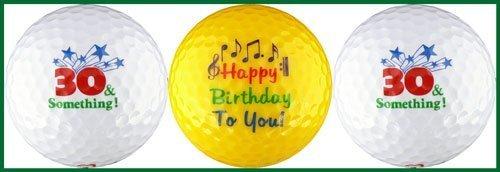 Thirty & Something Birthday Golf Ball Gift Set by EnjoyLife Inc