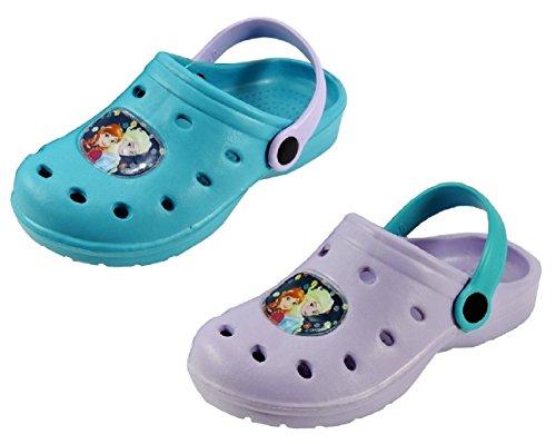 Ciabatte bambina clogs estive frozen anna elsa - sabot mare sandali bambina modello crocs frozen taglie disponibili dal 26 al 35