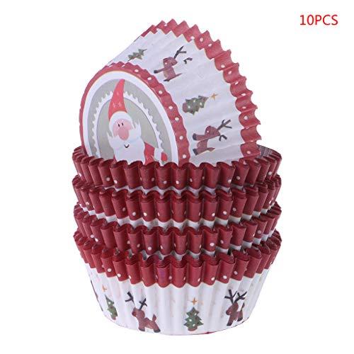 Fafalloagrron Einweg-Cupcake-Wrapper aus Papier für Kuchen, Backen, Muffins, Werkzeuge 2.76inx1.18in 02