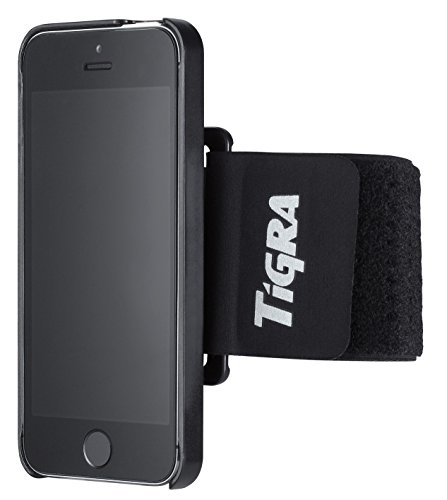 Tigra Sport Universal Sport Armband Etui Case Cover Schutzhülle Kompatibel mit MountCase Smart Hüllen - Schwarz Armband Case Cover