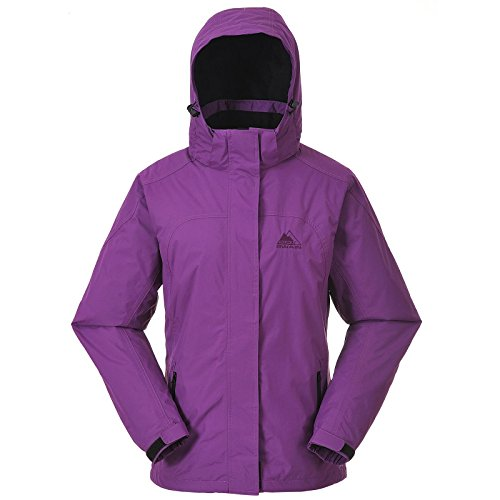 COX SWAIN Damen 2-Lagen Outdoor Regenjacke Pure - 5.000mm Wassersäule, Colour: Berry, Siz