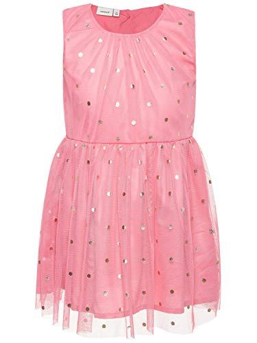 id festlich Tüllkleid gepunktet NMFSARA, Größe:104, Farbe:Bubblegum ()