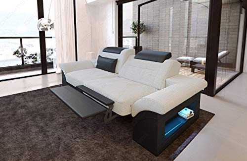 Sofa Dreams Dreisitzer Polstersofa Monza mit Relaxfunktion und LED Beleuchtung
