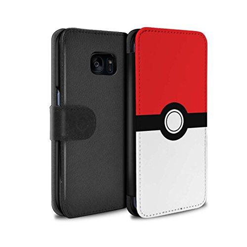 �lle/Case/Tasche/Cover für Samsung Galaxy S7 Edge/G935/Rot Muster/Pokeball Anime Inspiriert Kollektion ()