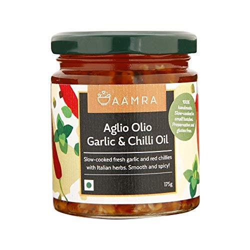 Aglio Olio Garlic & Chilly Oil No Artificial Preservatives Gluten-Free- 175 Gm (6.17 OZ)