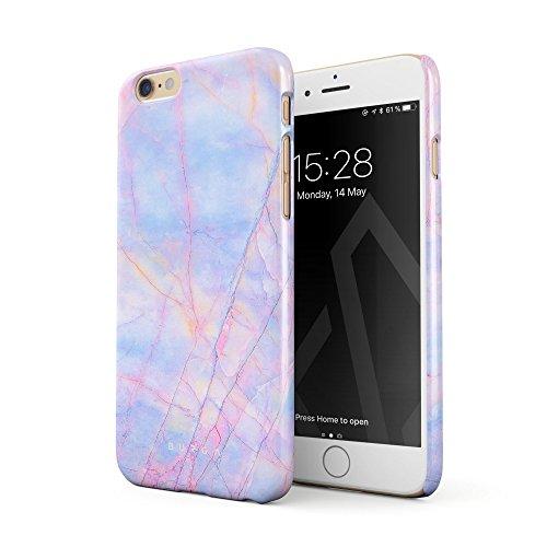 BURGA iPhone 6 / 6s Hülle, Farbig Bunt Regenbogen Einhorn Marmor Cotton Candy Marble Dünn, Robuste...