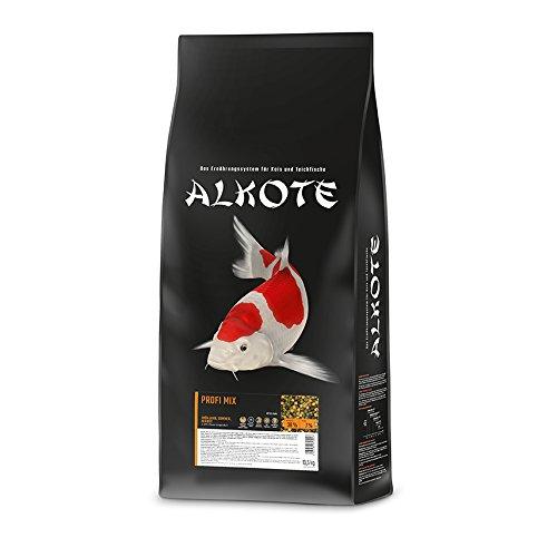 AL-KO-TE, 3-Jahreszeitenfutter für Kois, Frühjahr bis Herbst, Schwimmende Pellets, 6 mm, Hauptfutter Profi Mix, 13,5 kg