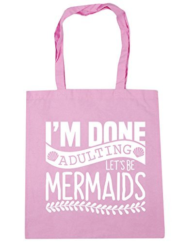 hippowarehouse-im-done-adulting-lets-be-mermaids-tote-shopping-gym-beach-bag-42cm-x38cm-10-litres