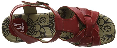 FLY LondonHEWS682FLY - Sandali Donna Rosso (Rot (RED 004))