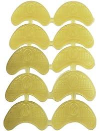 Sourcingmap Chaussures Bottes semelle Paragraphe réparation Pad Guard Plaque Couette Pointe Lot de 10Marron