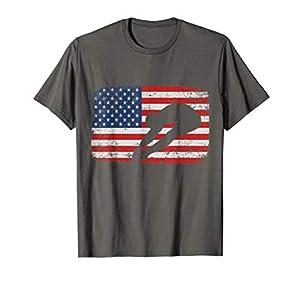 Sprungbrett Amerikanische Flagge Hemd USA Tauchen Geschenk T-Shirt