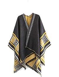 Femme Fille Unie Motif Géométrique Extra Large Très Épais Écharpe Wrap  Châles Etole Ponchos Frange b00d9c1f624