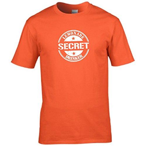 Camiseta para hombre inspirada en anuncio clásico de TV con el texto en inglés 'Secret Lemonade Drinker' naranja naranja X-Large