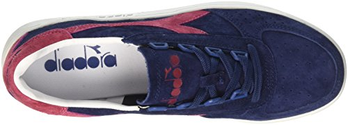 Diadora B.Elite Nub, Chaussures de Gymnastique Homme Bleu (Blu Estatevla Bottle Di Vino)
