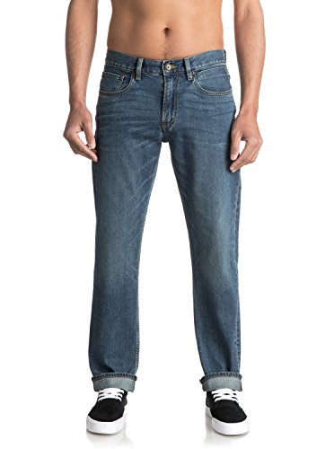 Quiksilver Sequel Medium Blue - Regular Fit Jeans for Men - Männer - Quiksilver Blue Denim
