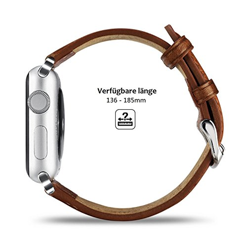 41xq7PdaK9L - [Amazon.de] Benuo Echtes Leder Armband für alle Apple Watches mit 42mm nur 10,79€ statt 17,99€